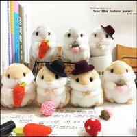 20151040 10cm Japón lindo divertirse peluche juguetes de peluche suave hamster peluche muñeca juguete de peluche de hámsteres para los niños mejores regalos colgante