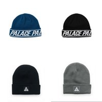Wholesale Palace Skateboards beanie hat cap Kanye West Off White winter beanie knitted skullies vogue Ski beanies drakes casual i feel like beanie hat