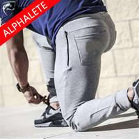 Wholesale Alphalete New Mens Joggers Cargo Men Pants Sweatpants Slim Fit Pants Men Pants Men Pantalones Hombre