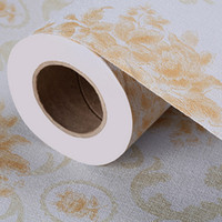 adhesive material - Thickenin self adhesive wallpaper waterproof and moisture proof hotel KTV decorative special earth golden classical pattern