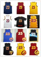 army embroidery - cheap Men s Jersey Stitched Throwback LBJ Basketball Jerseys Embroidery Logos Shirt