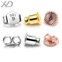 allergy alloys nickel - XD sterling silver ear nuts earrings back stopper earplug for diy jewelry making not alloy free nickel anti allergy P922