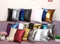 Wholesale Hot sale Sequin Pillow Case Sequin Pillowslip Tone Color Pillow Case Reversible Cushion Cover Home Sofa Car Decor Mermaid Pillow Covers