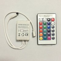 Wholesale 24key RGB Controller IR Remote Controller for Led flexible Strip and RGB Bulb Tube downlight floodlight