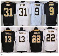 american new jersey - New Elite Stitched Embroidery Mens American Football Jerseys Drew Brees Michael Thomas Mark Ingram Jr Jairus Byrd Vaccaro