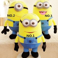 Wholesale 2015 Despicable me Movie Plush Toys Minions Soft Doll Hobbies Toy Figures High Quality Kids Cotton Dolls Minon Stuffed Toys