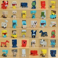 Wholesale 36 Minecraft Figures Collect PVC Steve Enderman Zobies jj Minecraft Action Figure Toys Minecraft Minifigure Best Gifts For Kids