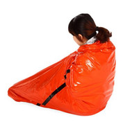 Wholesale Orange Outdoor Waterproof Emergency Survival Foil Thermal First Aid Rescue Blanket cm Hiking pads Rescue curtain outdoor life saving