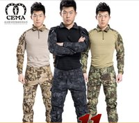 Wholesale A commando camouflage frogloks suit foreign sports outdoor beauty fan of tactical combat uniform men s army equipment