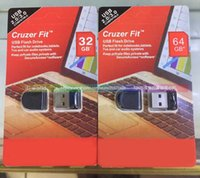 Wholesale Cruzer Fit CZ33 Flash Memory Drives GB Mini USB Pen Drives Perfect fit for Notenooks Tablet TVs PC and Car Audio Free Ship