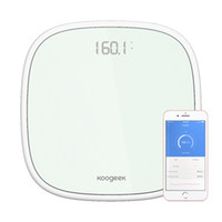Wholesale Koogeek Smart Wireless Bluetooth Digital Body Weight Scale Users Recognition with Ultra Clear Glass LED Display App Weight KSSG1