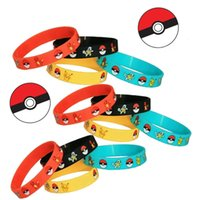 Wholesale pokémon Go Silicone Wristbands Toys Pikachu Bracelets Pokeball Pocket Monsters Designs Wrist Strap Hand Bands