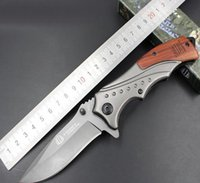 Wholesale Factory direct mahogany handle stainless steel inch Mick B46 tactical folding knife for field survival adventure