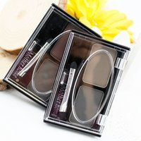 Wholesale Mother Home Makeup color Eyebrow Powder with Brush maquiagem Waterproof EyeBrows gel Shaping shadow kit