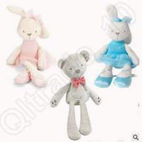 Wholesale 7 Colors cm Rabbit Baby Soft Plush Toys Brinquedos Plush Rabbit Stuffed Toys Kids Rabbit Stuffed Animals Bunny Dolls CCA4937