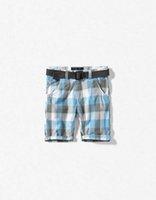 baby bermuda shorts - Boys Shorts new Baby Boy Plaid Shorts Children Cotton Shorts With Belt Bermuda Casual Check Blue