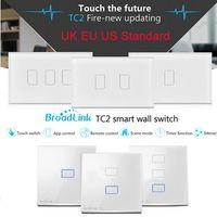 Wholesale Broadlink TC2 UK EU US Switch Gang Gang Gang Touch Switch Smart Home Automation Wireless Wifi Control Light Wall Switch RF433
