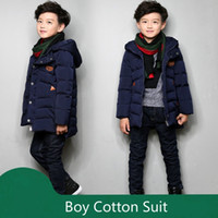 Wholesale Winter Boy Cotton padded Jacket Coat Long Thickening Cuhk Children s Clothes The Most Popular Essential New Children s Clothes
