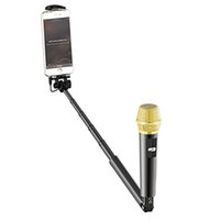 Wholesale Selfie stick With microphone SelfieMic for android phone and for IOS phones Use with Phone Singing Portable Microphone