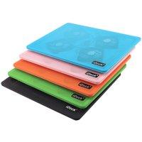 Wholesale Hot Sale Laptop Cooling Pad Fashion Portable Four Fans Aluminum Plastic Air cooled quot quot Laptop One USB Pink Blue Orange Green Black