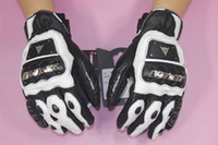 Wholesale New GUANTO STROKE carbon fiber short design racing gloves motorcycle leather gloves waterproof