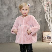 beadings brand new - Girls Plush Coats New Arrival Candydoll Kids All match Winter Outerwear Beadings Flowers Warm Breathable Girl s Winter Coat