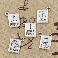 antique bibles - Cents Charms book holy bible mm Antique pendant fit Vintage Tibetan Silver DIY bracelet necklace