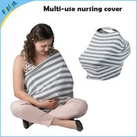 Wholesale stretchy knitted stripe highchair cover cute in multi uses breast feeding nursing cover