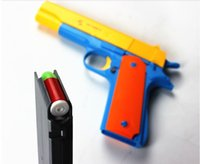 Wholesale 1pcs Classic m1911 Toys Mauser pistol Children s toy guns Soft Bullet Gun plastic Revolver Kids Fun Outdoor game shooter safety