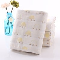 Wholesale Baby towel gauze towel factory direct cotton six layer gauze children s bath towel Tong was fast drying