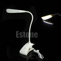 Vente en gros - Capteur tactile USB rechargeable LED Clip-On Table de bureau Lampe de lecture Lampe dimmable