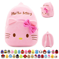 animated backpack - New A variety of styles children schoolbag plush backpacks kindergarten satchel animated cartoon cute little bags