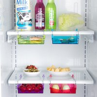 Wholesale Slide Fridge Freezer Refrigerator Shelf Storage Rack Holder Space Saver Kitchen