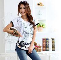 L-XXXL Nouveaux arrivages T-shirts Plus Size T-shirts Femmes T-shirt Coton O-cou Slim Tops Lady Butterfly Impression Tee