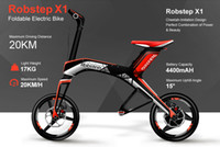 Wholesale Robstep X1 City Edition Bluetooth Foldable electric bicycle Pit Bike Brushless DC motor KM W
