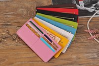 Wholesale 6 Cards slots Coin pocket Card Credit Protector Holder leather Lady Girl Organizer Wallet Purse