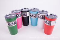 venda por atacado promoção de cerveja-Promoção!!! 20oz Tumbler Rambler Aço Inoxidável Yeti Cup Caneca de viagem Vacuum de Bilayer para o café do suco da cerveja (DHL TOMA TRÊS DIAS)