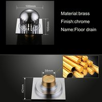 bathroom floor drainage - New Deodorant Drainage Bathroom Floor Drain Brass Square Shower Drainer Chrome Surface Hardware Accessories