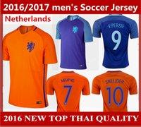 arjen robben - 2016 Netherlands Soccer Jersey Arjen Robben maillot de foot Holanda Orange camisas Memphis Depay Sneijder V Persie Football Shirt Quality