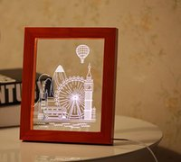 Wholesale Cut A Small London City View Desk Lamp Photo Frame Small Night Light Novelty Items D Night Light Home Decorations