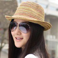 Wholesale Women Bohemian Summer Twisted Braided Woven Straw Beach Hat