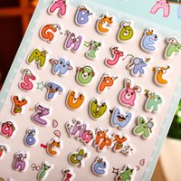 cheap 1sheet lovely foam stickers scrapbooking diary diy decoration letters love heart dessert box little cat