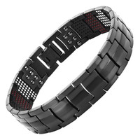 Wholesale MENS JEWELRY MAGNETIC BRACELETS BANGLES TITANIUM IONS GERMANIUM INFARRED POWERFUL GIFTS ELEMENTS HEALTH