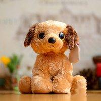 Plush beagle dog toys - 2017NEW6 ty beanie boos plush animals baby beagles dog doll toys plush toys gift ty toys