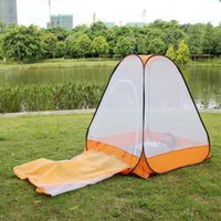 Wholesale on sale single person anti mosquito sit in and lie down automatic pop up buddhist meditation nap yoga net tent
