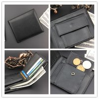 Wholesale New PU Mens Wallets Fine Bifold Black PU Leather Credit Card Cool Cheap Cheaper Open Wallet Card Holder A061