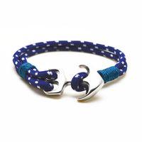 Wholesale hot sale hot sale stainless steel hook anchor paracord bracelet for gift handmade paracord bracelet