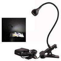 adapter asia - usb Desk Lamp Table Led Light with Clip On Switch Control On and Off with US Adapter Finish Black