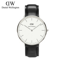 Wholesale top Luxury Brand mm rose gold DW Watch fashion leather Strap Daniel Men Women Wellington Wristwatch montre femme relojes