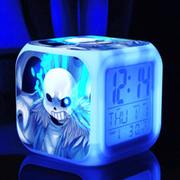 Wholesale undertale Alarm Digital with LED cartoon doll Night light undertale Electronic Toys Relogio Despertador kid cartoon gift dolls